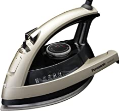 Panasonic Dry and Steam Iron with Ceramic Soleplate, Fabric Temperature Dial and Safety Auto Shut Off – 1500 Watt Multi Directional Iron – NI-W810CS (Champagne)