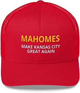 LiberTee Mahomes Chiefs Hat, Make Kansas City Great Again Mesh Trucker Hat for KC Fans, Unisex