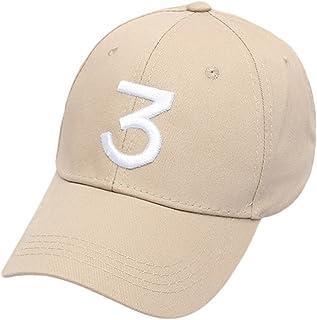 IVYRISE Chance Baseball Caps Rapper Number 3 Caps,Adjustable Strap Cotton Sunbonnet Plain Hat