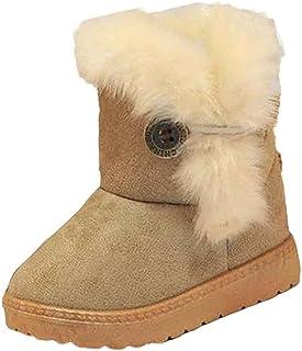 26a523138e5 Tefamore Zapatos niña de Antideslizante de Sole Suave de Moda Invierno de  Calentar para Chicas