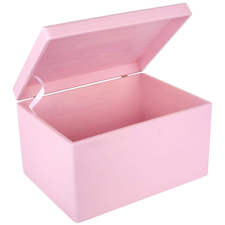 Creative Deco XXL Rosa Grande Caja de Madera para Juguetes | 40 x ...