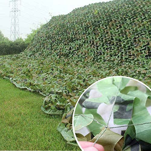 Lyy Home Garden Camouflage Netting for Kids 3X3m(10ft X 10ft), Woodland Jungle Summer Cover - Nerf War Party Courtyard Shade for Hide Car or Bike Decoration Camo Net (Size : 3X4m(10ft X 13ft))