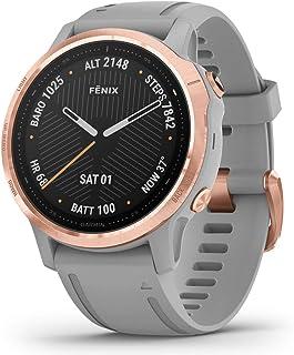 Garmin Orologio GPS Fenix 6S Sapphire GPS, Regular, Grau-Rose-Gold