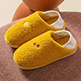 Zapatillas clásicas para Hombres y Mujeres, Zapatillas cálidas para Interiores, Antideslizantes, cálidas, de tacón Plano, para el hogar, Interiores, Dormitorio, Zapatillas Masculinas-Yellow_39-40