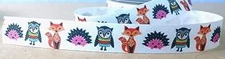 Woodland Forest Animals Grosgrain Ribbon - 4 Yards   Fox   Owl