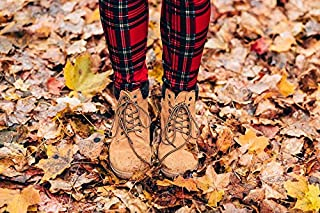 Home Comforts Peel-n-Stick Poster of Dry Leaves Autumn Feet Footwear Boots Fall Leaves Vivid Imagery Poster 24 x 16 Adhesive Sticker Poster Print