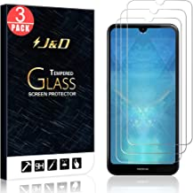 J&D Compatible for Nokia 3 V Glass Screen Protector, 3-Pack [Tempered Glass] [Not Full Coverage] HD Clear Ballistic Glass Screen Protector for Nokia 3 V Screen Protector