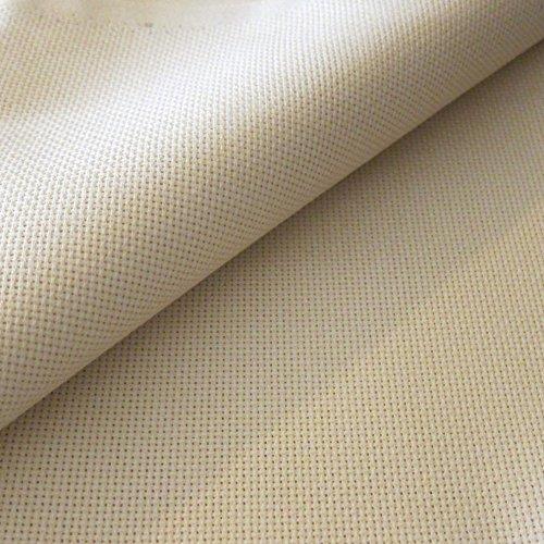 Flor Márquez® - Tela Panamá por Metros, para Punto de Cruz y Bordar. 100% Algodón, Excelente Calidad. Color y Tamaño Seleccionado: (Beige, 1,50 x 1,00 mt)