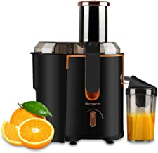 Juicer Extractor Picberm Wide Mouth Juicer Machines, 3 Speed Centrifugal Juicer for Fruit and Vegetable, Powerful Juicer with Plus Pulse Function, 800W/20000RPM, Easy to Clean & BPA Free, Black