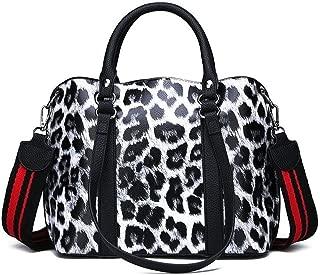 Handbags Leopard Print Design Women's Soft PU Leather Womens Large Handbags Female Big Shoulder Bag Fashion Tote