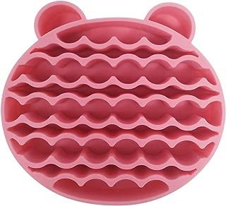 Limpiador de Pinceles Maquillaje de silicona Esponja para Eliminar Brochas de Maquillaje Color, soporte de secado del cepillo