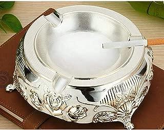 GAOTING Ashtray/smoker smoking versatile disc (Color : Silver, Size : 20 * 6.8cm)