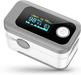 Oxímetro de Pulso, Pulsioximetro de Dedo Profesional con Pantalla OLED que Medición y Lectura Instantánea de SpO2, PR y PI...