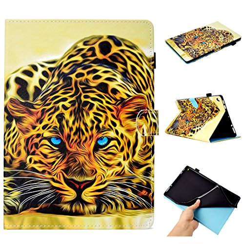 LMFULM Case for Amazon Fire HD 10 2016/2017 (10.1 Inch) PU Leather Magnetic Case 3D Tiger Pattern Wake/Sleep Function Stand Case for Amazon Fire HD10