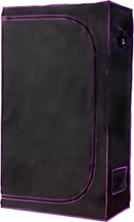"""Apollo Horticulture 36""""x20""""x62"""" Mylar Hydroponic Grow Tent for Indoor Plant Growing"""