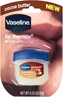 Vaseline Lip Therapy Cocoa Butter.25 oz (Pack of 4)
