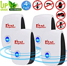 BESTZY Repelente Ultrasónico Mosquitos Control de Plagas para Las Moscas,Cucarachas,Insectos Antimosquitos Extra Fuerte para Interiores (4-Pack)