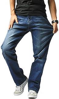 Hiloyaya 大きいサイズ メンズ ジーンズ ストレッチ ストレート デニム パンツ メンズジーパン ゆったり カジュアル おしゃれ202