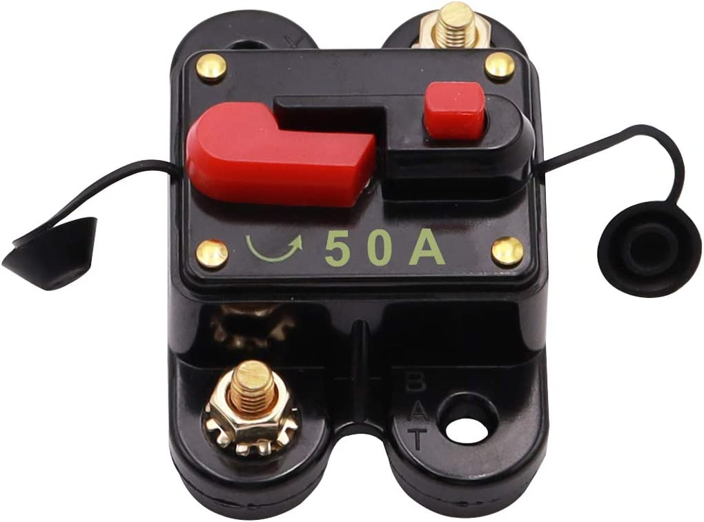 smseace 20A Manual Reset circuit breaker Auto Car Marine Boat Motor Audio Inline Fuse Waterproof circuit breaker 5i-985Z-20A