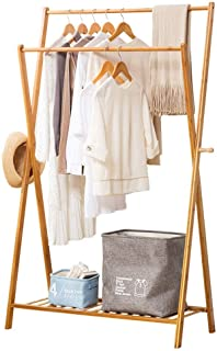 Bamboo Hanger Portable Large Me'dium and Small Hanger Storage Box and Be'd Room Design (Log Color) (Size : L) JoinBuy