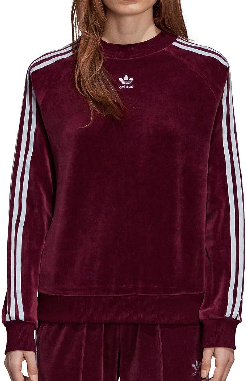 Adidas Women Originals Crew Sweatshirt Maroon DH3112
