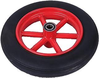 YJJT Rubber wiel, Trolley wiel Heavy Duty, Solid, Antislip, Slijtvast, Stalen wielkern, Maximale belasting per wiel 100kg,...