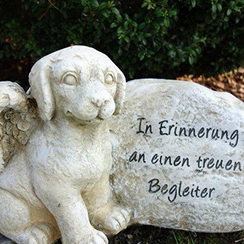 Grabstein Hund Spruch. Höhe 25cm, Breite 42cm. 1 Stück.