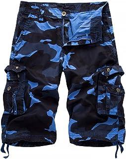 8576310a817c3 Vertvie Homme Militaire Cargo Short de Loisir Travail Casual Imprimé  Camouflage Bermuda Pantalon Court Multi Poches