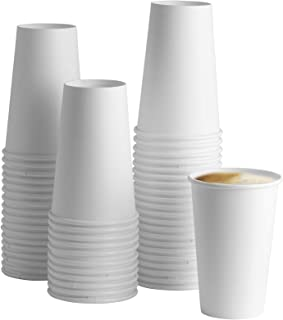 16 oz White Paper Hot Cups [100 Pack] Coffee & Tea Cups