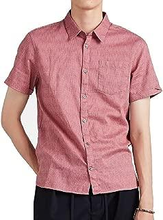 John Varvatos Star USA Men's Short Sleeve Clyde Solid Woven Shirt