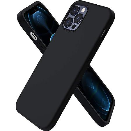 """ORNARTO Funda Silicone Case Compatible con iPhone 12 6,1"""", iPhone 12 Pro Protección de Cuerpo Completo,Carcasa de Silicona Líquida Suave Case para iPhone 12/12 Pro (2020) 6,1 Negro"""