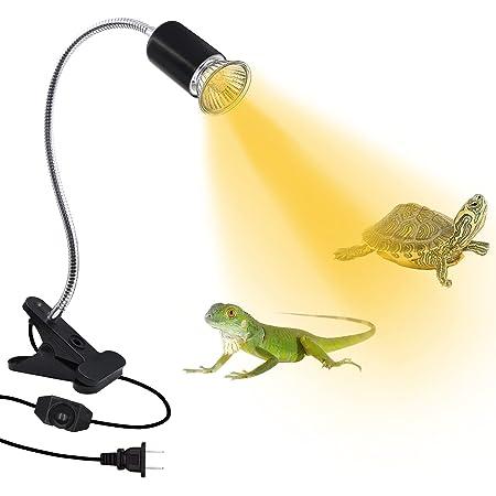 Reptile Heat Lamp,Aquarium Tank Heat Light,E26/E27 Turtle Basking Spot Lamp with Dimmable Switch,86.6 in Habitat Basking Heat Lamp,360° Adjustable,Heating Lighting for Tortoise Lizards Amphibian Snake