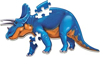Learning Resources Jumbo Dinosaur Floor Puzzle, Triceratops, 20 Safe Foampiece, Ages 3+