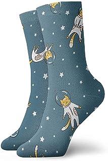 Dydan Tne, Niños Niñas Locos Divertidos Divertidos Gato Astronauta Calcetines Espaciales Calcetines Lindos de Novedad