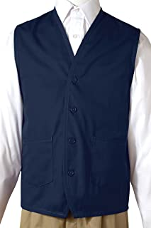 Edwards Apron Vest With Waist Pockets, NAVY, Large