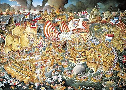 Zyysyzsh Puzzels 1000 Stukjes Volwassen Houten Puzzels Classic Puzzel Vrije Tijd Creatieve Spelletjes,Oorlog Zeeslag