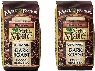 The Mate Factor Yerba Mate Energizing Mate & Grain Beverage, Dark Roast , 12 Ounce (12 Ounce pack of 2)