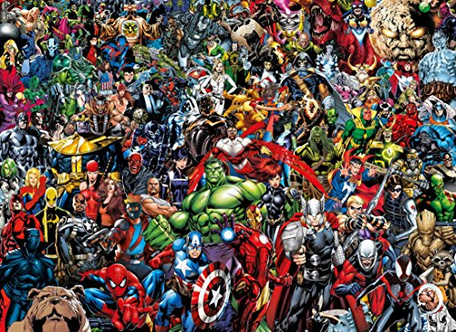 Clementoni 39411 Clementoni-39411-Impossible Puzzle-Marvel-1000 Pieces,...