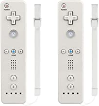 Wii Remote Controller,MOLICUI Wii Game Wireless Controller for Nintendo Wii/Wii U Console,2 Packs,White