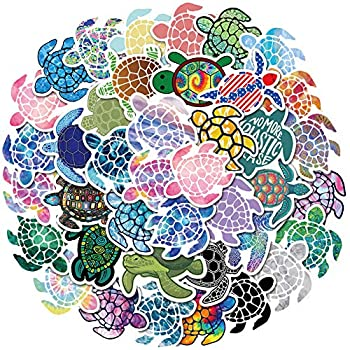 Cute VSCO Sea Turtles Stickers for Water Bottles Big 40Pack,Waterproof,Aesthetic,Fashion Stickers for Teens,Girls Perfect for Water Bottles,Phone,Travel Extra Durable Vinyl