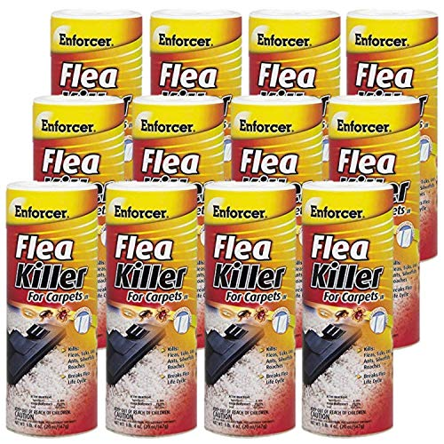 Enforcer Flea Killer for Carpet Fresh Linen 20 Ounce EFKIR203 (Case of 12) Kills Fleas, Ticks, lice, Ants, Silverfish and roaches