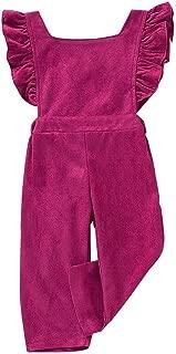 NINGSANJIN Kleinkind-S/äuglingsbaby-M/ädchen-festes Gesamthose Spielanzug-Overall-Kleidungs-Outfits XY3514