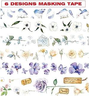 KANGKANGBOOS Cinta de enmascarar 48 unids Mohamm Time Series Bow Plaid Grid Rainbow Washi Tape Set papeler/ía Japonesa Cintas Adhesivas Scrapbooking