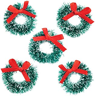 Baker Ross Mini Christmas Wreaths Creative Xmas Art Supplies for Christmas Crafts and Decorations (Pack of 6)