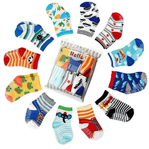 FUTURE FOUNDER FUTURE FOUNDER 6er-pack Stoppersocken Kinder Baby ABS Socken, Anti Rutsch Socken für 0-24 Monate Baby Mädchen und jungen