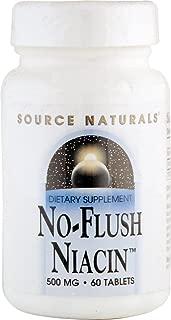 No-Flush Niacin 500mg Source Naturals, Inc. 60 Tabs