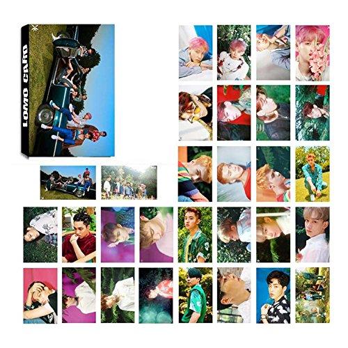 Yovvin 30 Stück EXO Photocard/Fotokarten | Baekhyun, Chanyeol, Chen, D.O, Kai, Lay, Sehun, Suho, Xiumin | Beste Geschenk für The Fans (Style 09)