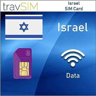 travSIM Three UK Prepaid Israel SIM Card 2GB Data Valid for 30 Days – Free Roaming in 71+ Destination Countries Including Europe
