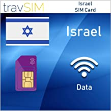 travSIM Three UK Prepaid Israel SIM Card 5GB Data Valid For 30 Days – Free Roaming In 71+ Destination Countries Including Europe