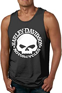Starcl Harley Skull Men Yoga Vest Tank Top Shirt Black